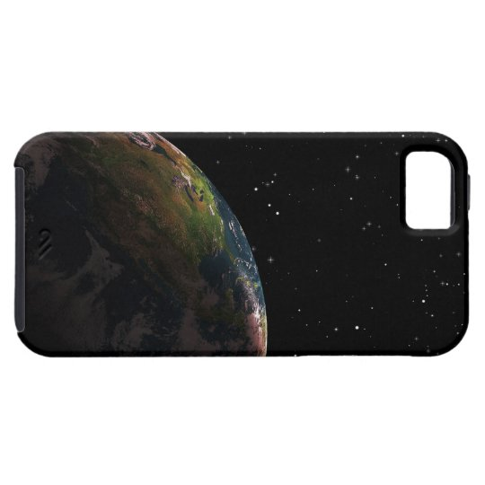 Earth in shadow in outer space iPhone SE/5/5s case