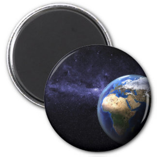 Earth in space 2 inch round magnet