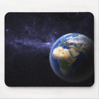 Earth in space mouse pad