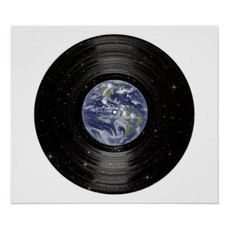 Earth In Space Vinyl LP Record Poster