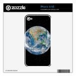 Earth In Star Field - Multiple Products iPhone 4 Decals