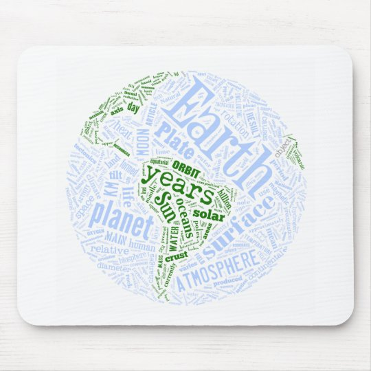 Earth in Tagxedo Mouse Pad