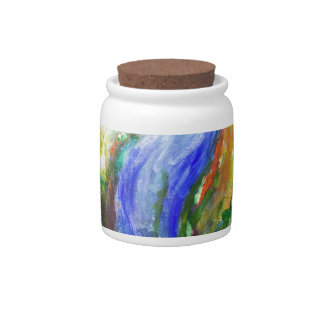 Earth in the cradle (earth surrealism) candy jars
