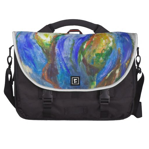 Earth in the cradle (earth surrealism) laptop bag