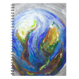 Earth in the cradle (earth surrealism) note books