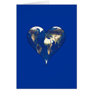 Earth in the Shape of a Heart Card