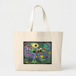 Earth Invasion 4 Dummies Funny Gifts Tees & Mugs Large Tote Bag