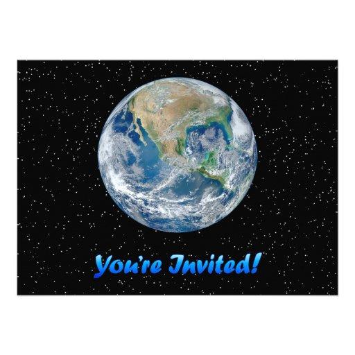 "Earth Invite 5.5"" by 7.5"