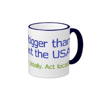 Earth Is Bigger Than America Mugs