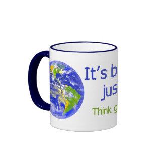 Earth Is Bigger Than America Ringer Mug