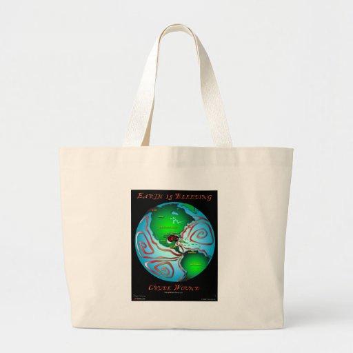 Earth is Bleeding Jumbo Tote Bag