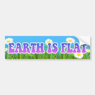 Earth is Flat - Great Bumper Sticker Flowers