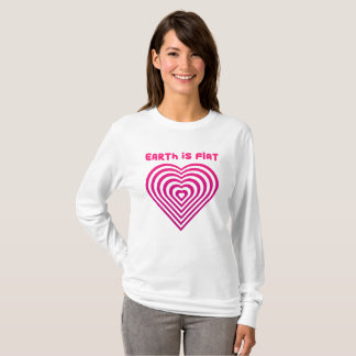Earth is Flat - Heart Design classic T-Shirt