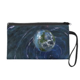 Earth Is In Trouble Wristlet Purses