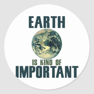 Earth is kind of important classic round sticker
