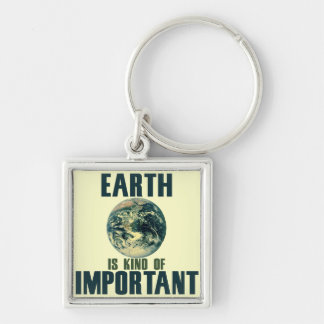 Earth is kind of important keychain