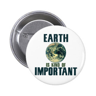 Earth is kind of important pinback button