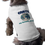 Earth is my favorite planet dog t shirt