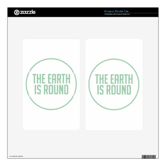 Earth is Round Skin For Kindle Fire