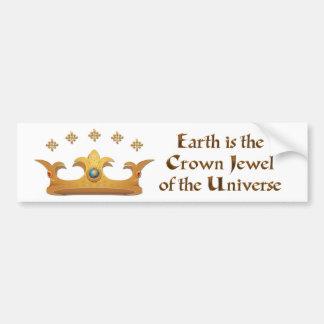 Earth is the Crown Jewel Bumper Sticker
