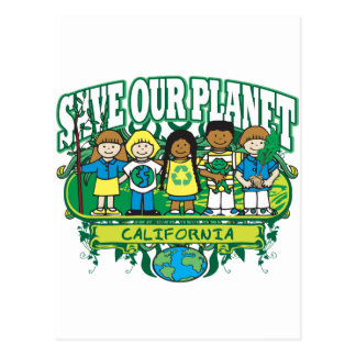 Earth Kids California Postcard