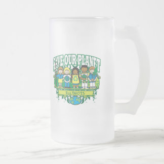 Earth Kids Illinois Frosted Glass Beer Mug