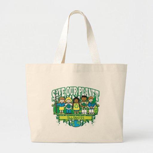 Earth Kids Illinois Jumbo Tote Bag
