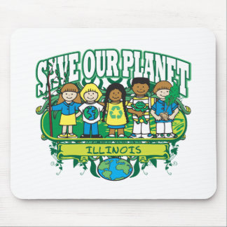 Earth Kids Illinois Mouse Pad