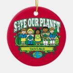 Earth Kids Indiana Ornament