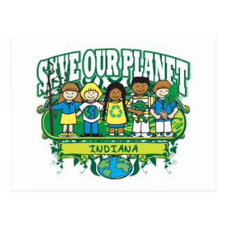Earth Kids Indiana Postcard