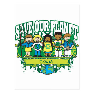 Earth Kids Iowa Postcard
