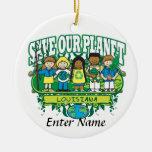 Earth Kids Louisiana Ornament