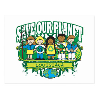 Earth Kids Louisiana Postcard