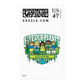 Earth Kids Michigan Postage