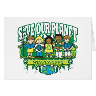 Earth Kids Mississippi Card