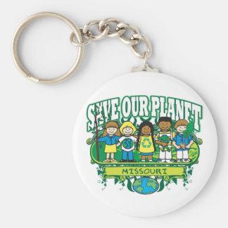 Earth Kids Missouri Basic Round Button Keychain