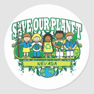 Earth Kids Nevada Classic Round Sticker