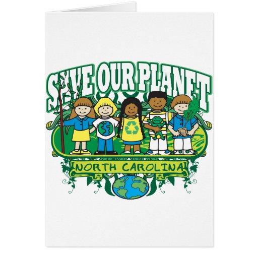 Earth Kids North Carolina Greeting Card