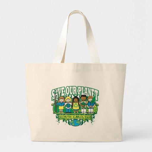 Earth Kids North Carolina Jumbo Tote Bag