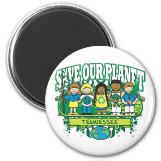 Earth Kids Tennessee 2 Inch Round Magnet