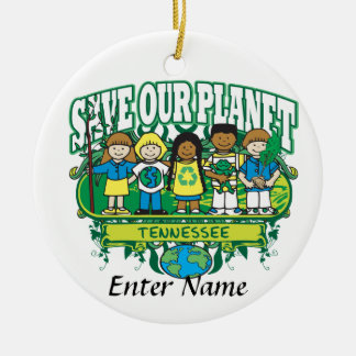 Earth Kids Tennessee Ceramic Ornament