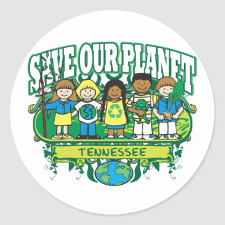 Earth Kids Tennessee Classic Round Sticker