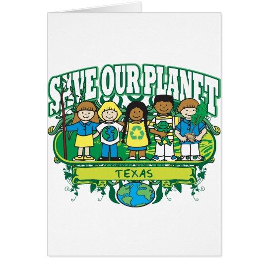 Earth Kids Texas Card