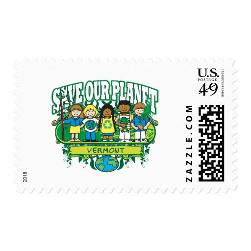 Earth Kids Vermont Postage Stamps