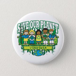 Earth Kids Virginia Button