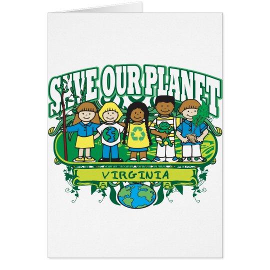 Earth Kids Virginia Card