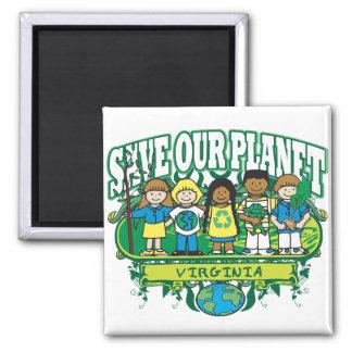 Earth Kids Virginia Refrigerator Magnet