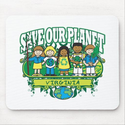 Earth Kids Virginia Mouse Pad