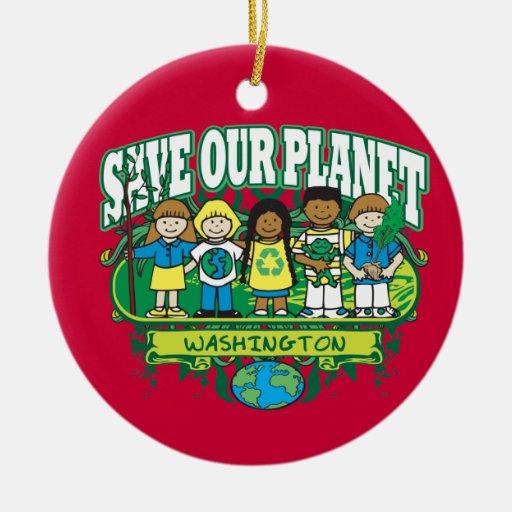 Earth Kids Washington Christmas Ornaments