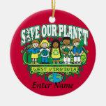 Earth Kids West Virginia Christmas Tree Ornament